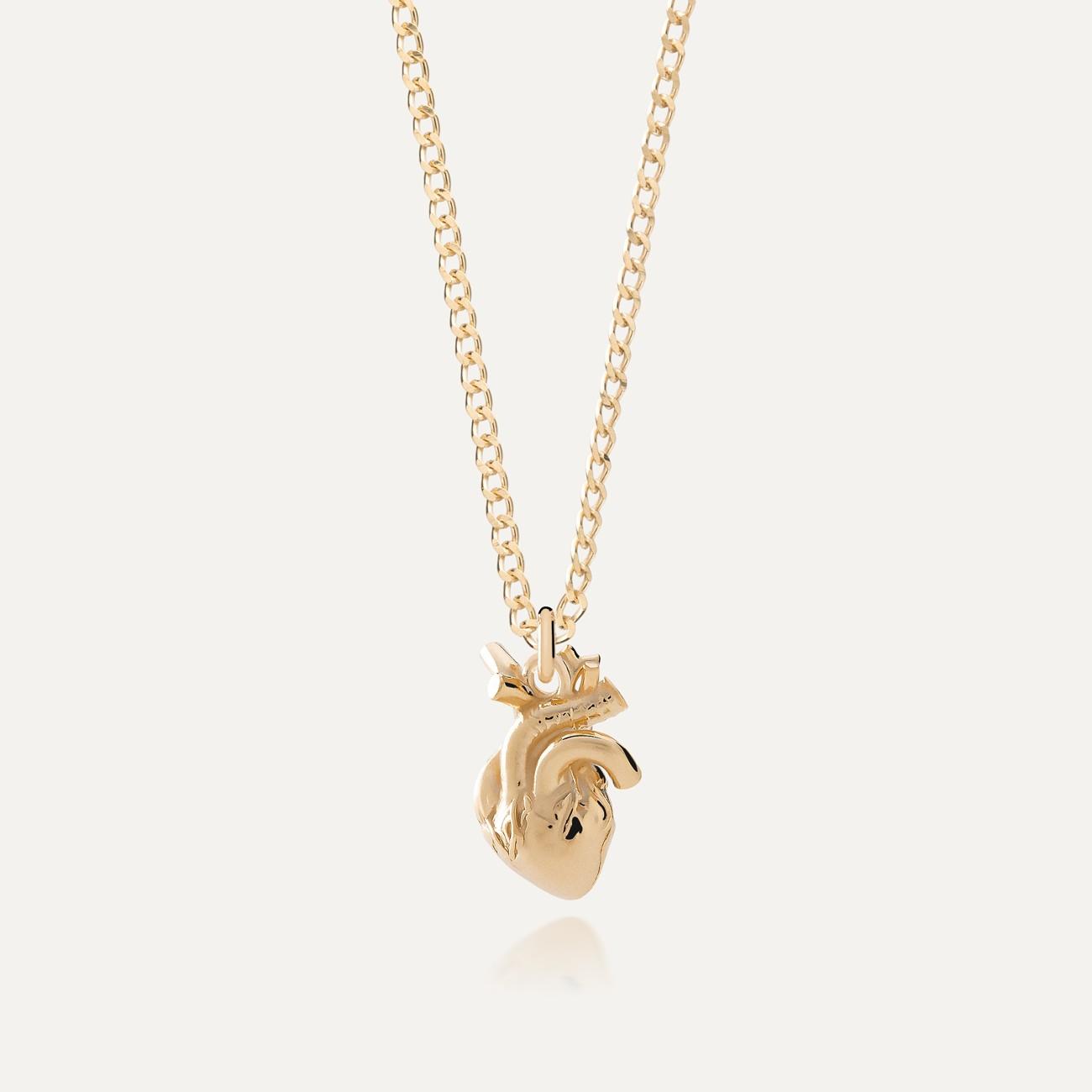 Srebrny naszyjnik serce anatomiczne, srebro 925