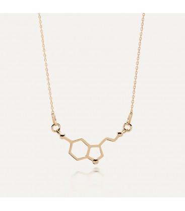 Srebrny naszyjnik - serotonina, wzór chemiczny, srebro 925