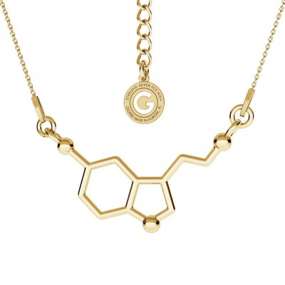 Necklace SEROTONIN chemical formula