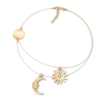 Srebrny nasyzjnik słońce księżyc 925
