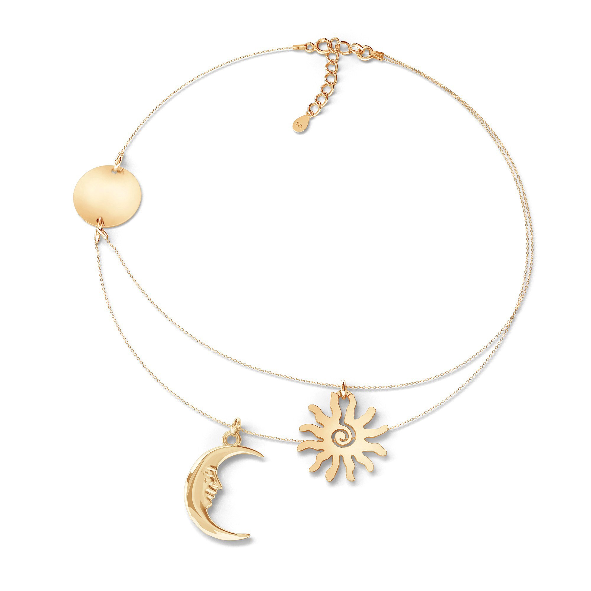 MOON necklace sterling silver 925