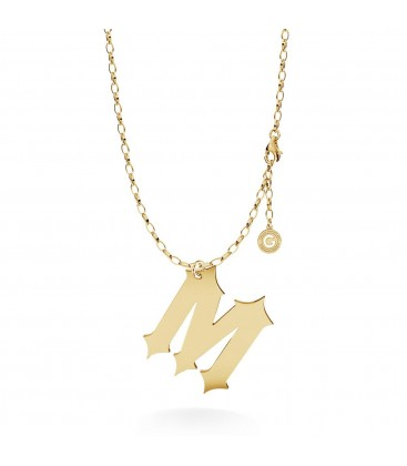 MON DÉFI Halskette mit großem buchstaben A, Sterlingsilber 925