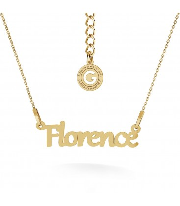 Simple style name necklace