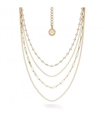 Srebrny naszyjnik kaskadowy z łańcuszków, srebro 925