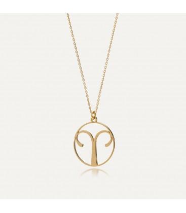 Srebrny naszyjnik znak zodiaku baran, srebro 925