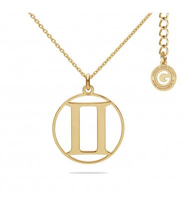 Gemini zodiac sign necklace silver 925