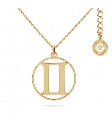 Srebrny naszyjnik znak zodiaku bliźnięta, srebro 925