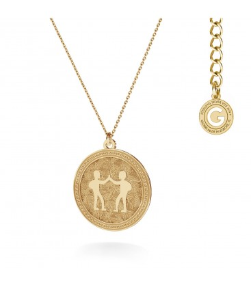Srebrny naszyjnik znak zodiaku - bliźnięta, 925 MON DÉFI, srebro 925