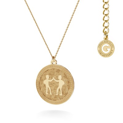 Srebrny naszyjnik znak zodiaku BLIŻNIĘTA 925