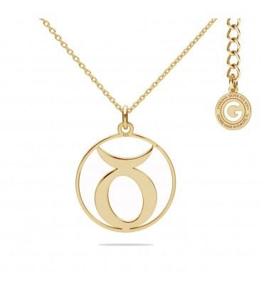 Srebrny naszyjnik znak zodiaku byk, srebro 925