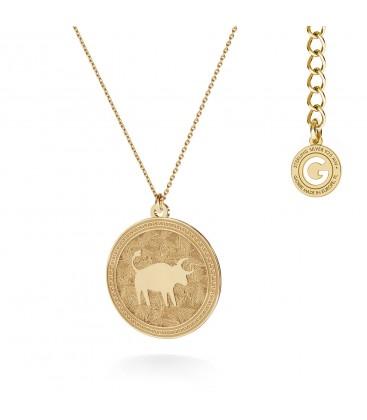 Srebrny naszyjnik znak zodiaku - byk, 925 MON DÉFI, srebro 925