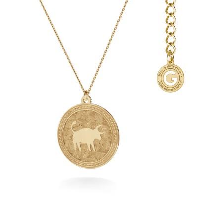 Srebrny naszyjnik znak zodiaku byk 925