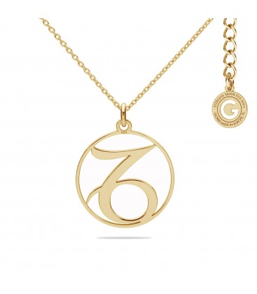 Srebrny naszyjnik znak zodiaku koziorożec, srebro 925