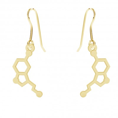 GOLD EARRINGS SEROTONINE 14K