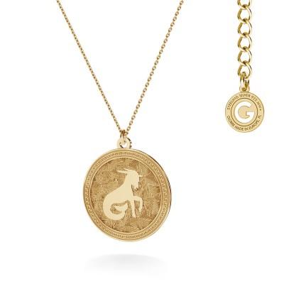 Srebrny naszyjnik znak zodiaku KOZIOROŻEC 925
