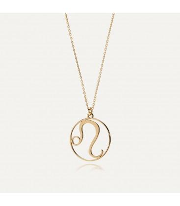 Srebrny naszyjnik znak zodiaku lew, srebro 925