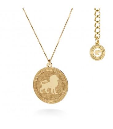 Srebrny naszyjnik znak zodiaku - lew, 925 - MON DÉFI, srebro 925