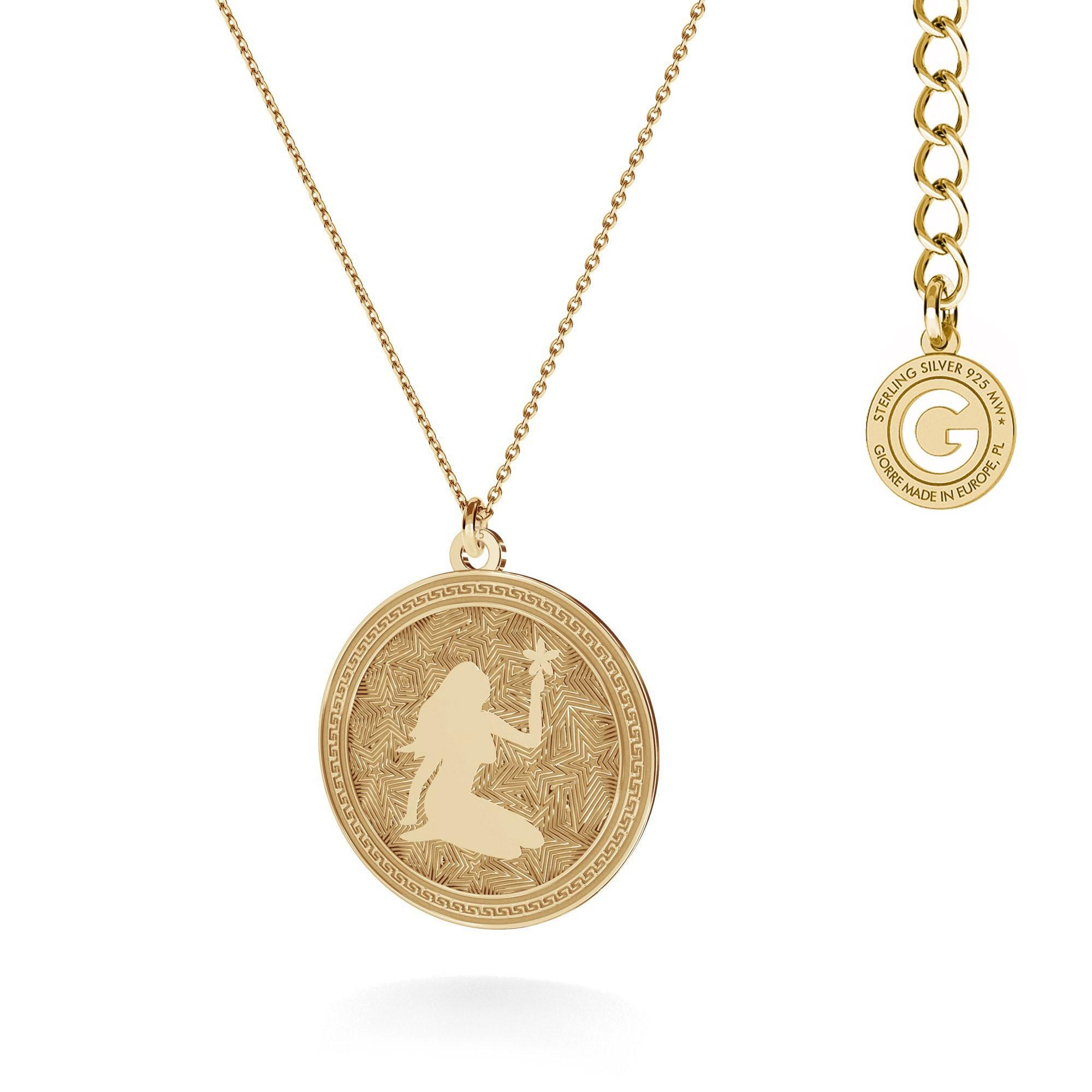 Srebrny naszyjnik znak zodiaku PANNA 925