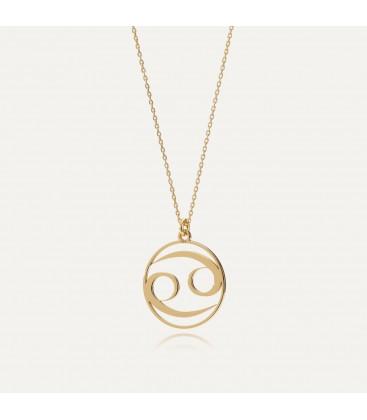 Srebrny naszyjnik znak zodiaku rak, srebro 925