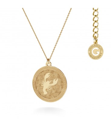 Srebrny naszyjnik znak zodiaku - rak, 925 - MON DÉFI, srebro 925