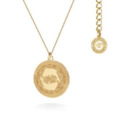 AQUARIUS zodiac sign necklace silver 925