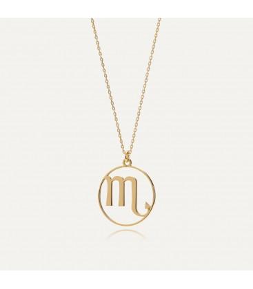 Srebrny naszyjnik znak zodiaku skorpion, srebro 925