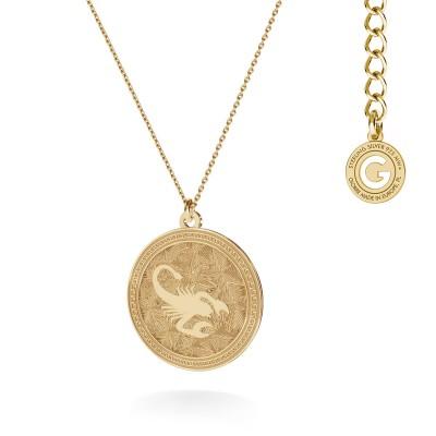 Srebrny naszyjnik znak zodiaku SKORPION 925