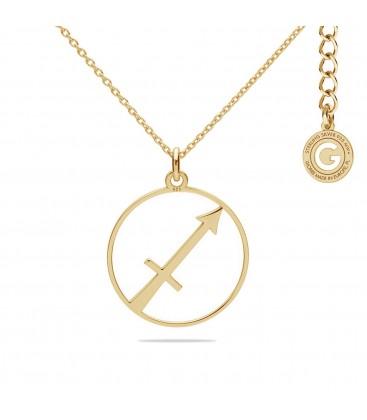 Srebrny naszyjnik znak zodiaku strzelec, srebro 925