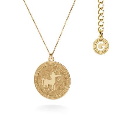 Srebrny naszyjnik znak zodiaku STRZELEC 925