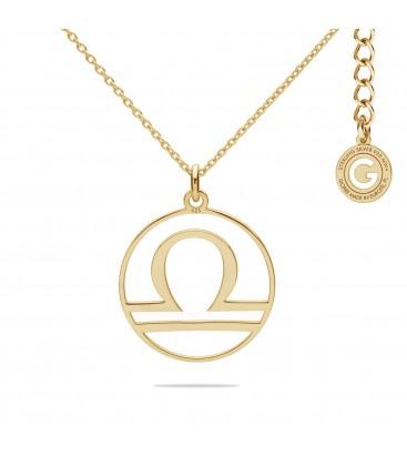 Srebrny naszyjnik znak zodiaku waga, srebro 925