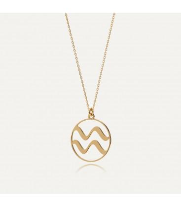 Acuario signo del zodiaco collar plata 925
