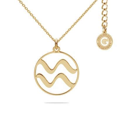 AQUARIUS ZODIAC SIGN NECKLACE SILVER 925