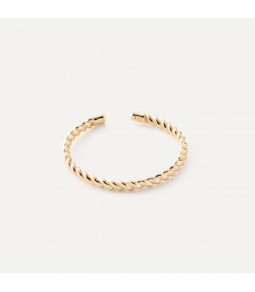 Srebrny pierścionek lina, sznurek, srebro 925
