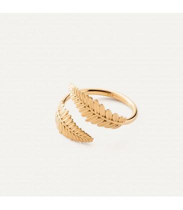 Srebrny pierścionek - liście, srebro 925