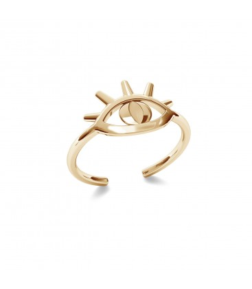 MON DÉFI Signet with Horus eye, sterling silver 925