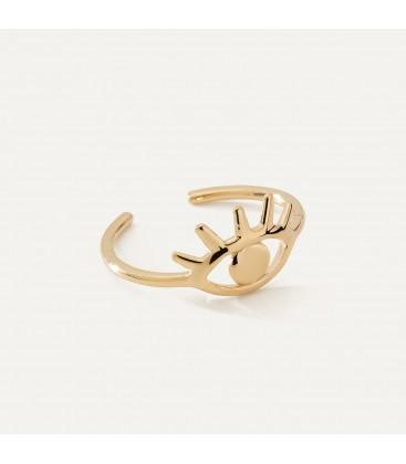 Srebrny pierścionek oko Horusa MON DÉFI, srebro 925