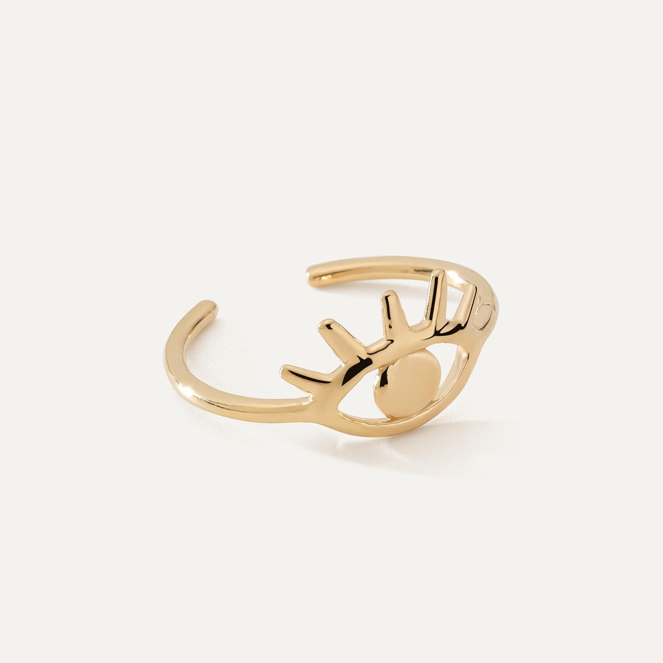 Srebrny pierścionek oko Horusa MON DÉFI, 925