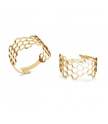 Honeycomb ring, silver 925