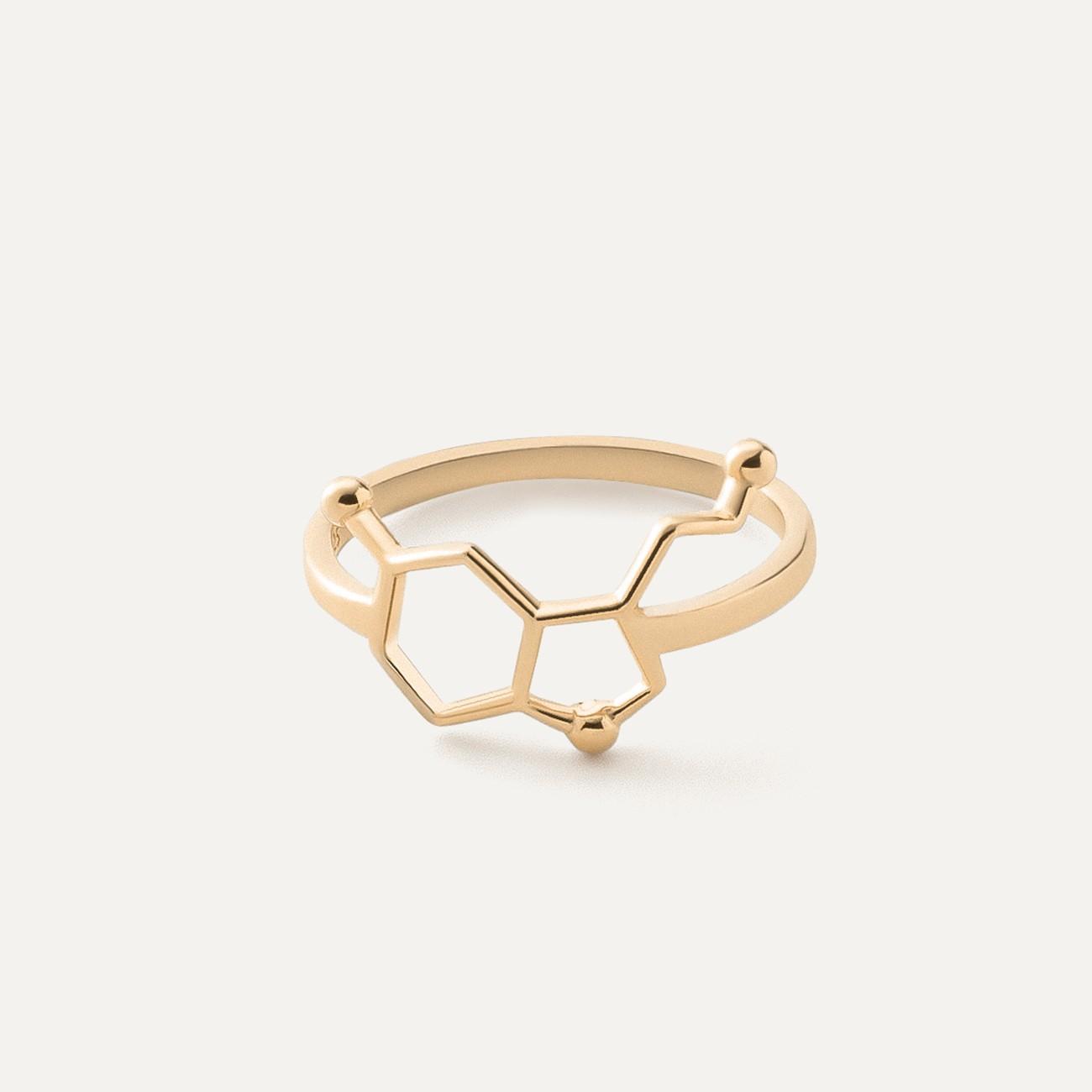 Srebrny pierścionek serotonina, wzór chemiczny 925