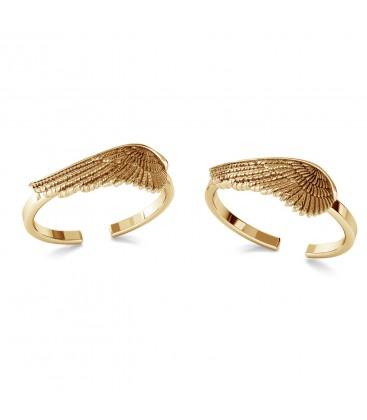 Srebrny pierścionek - skrzydło anioła, srebro 925