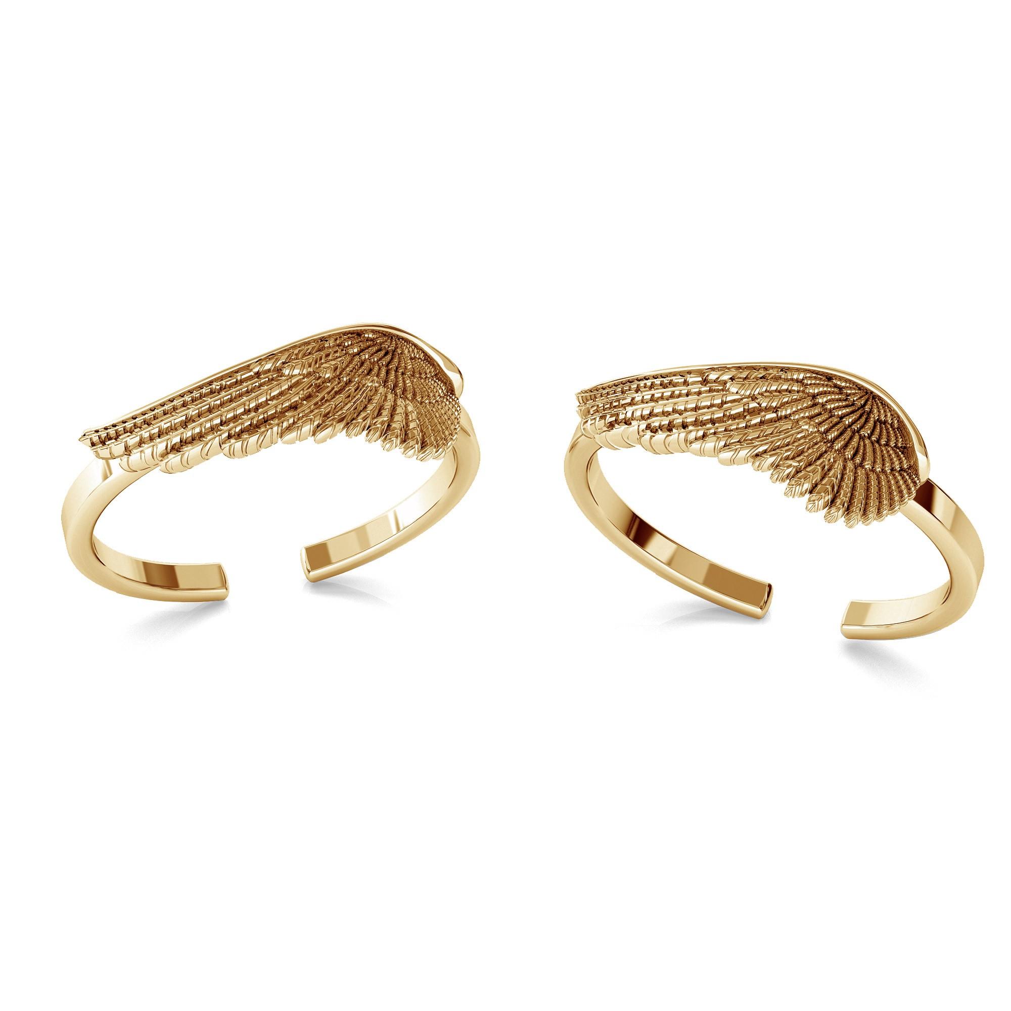 Angel wings ring, silver 925