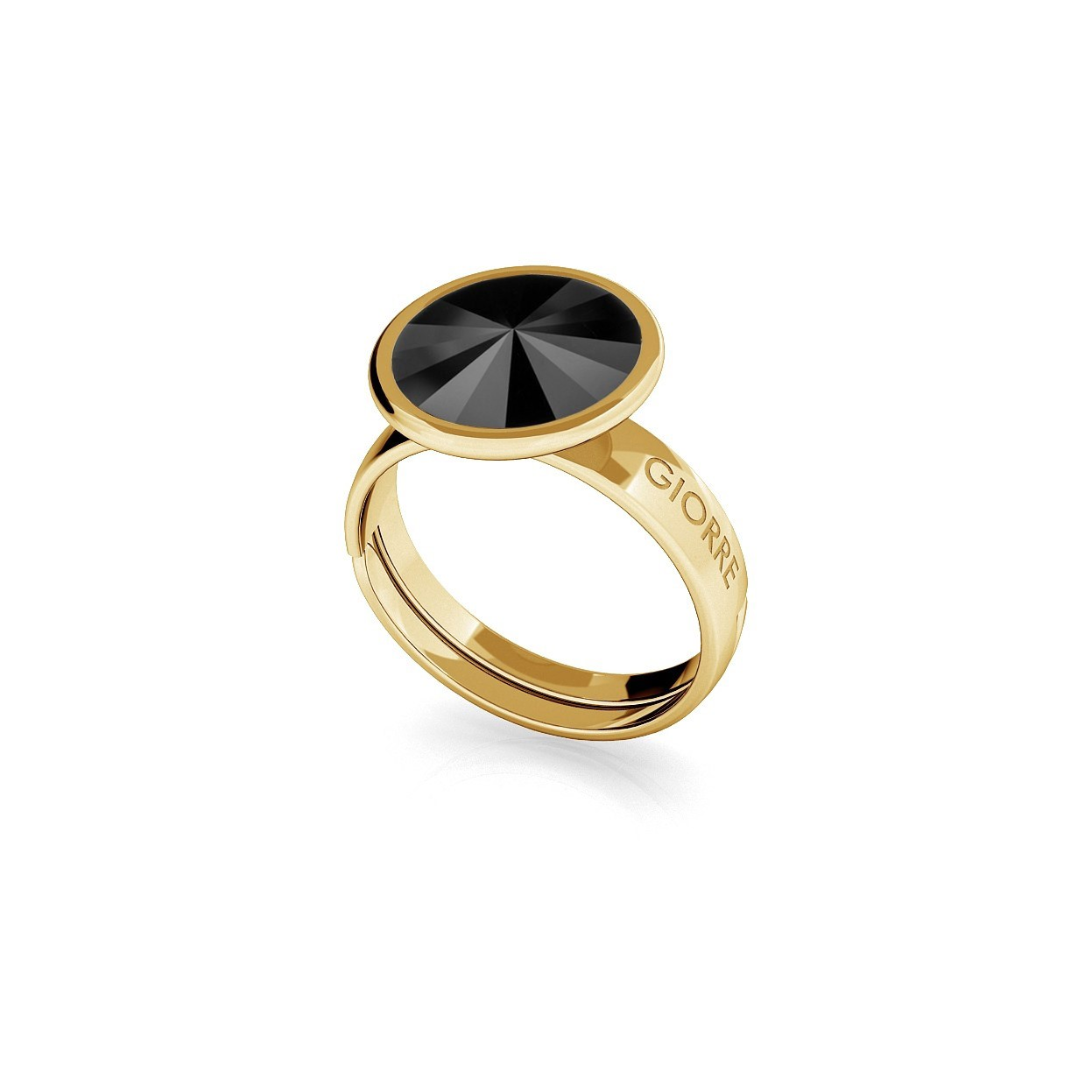 Srebrny pierścionek Swarovski rivoli 10mm, srebro 925