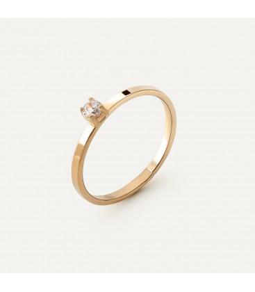 Srebrny pierścionek z cyrkonią 3mm My RING™, srebro 925