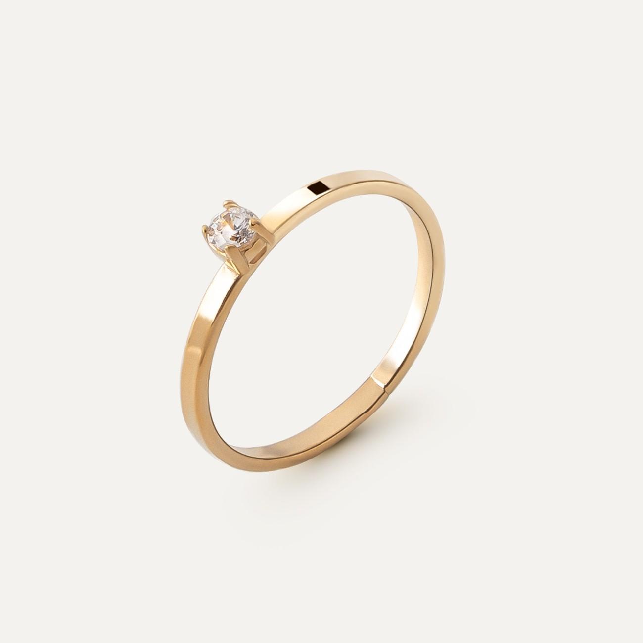 Srebrny pierścionek z cyrkonią 3mm My RING™ 925