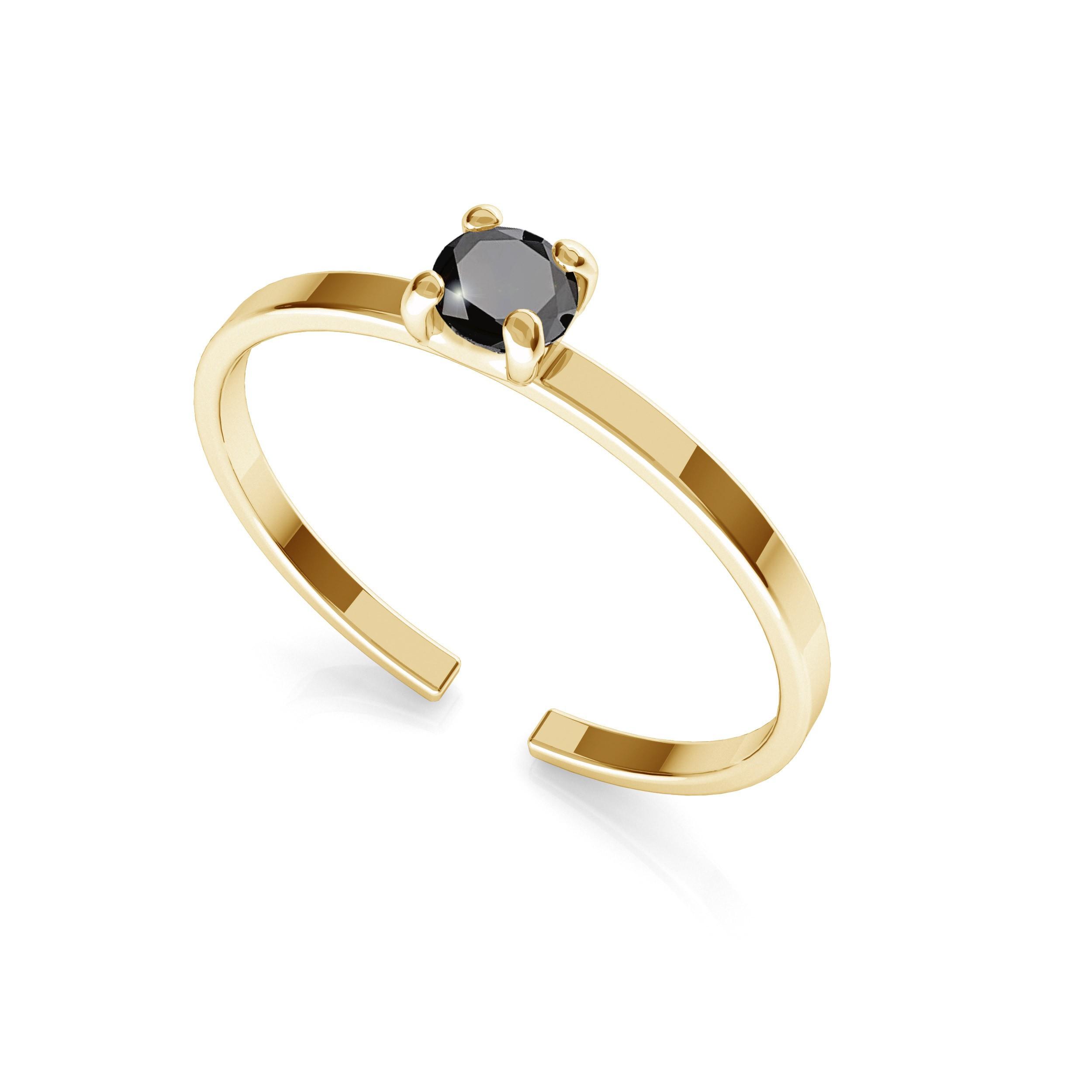 Srebrny pierścionek z diamentem 3mm My RING™ 925
