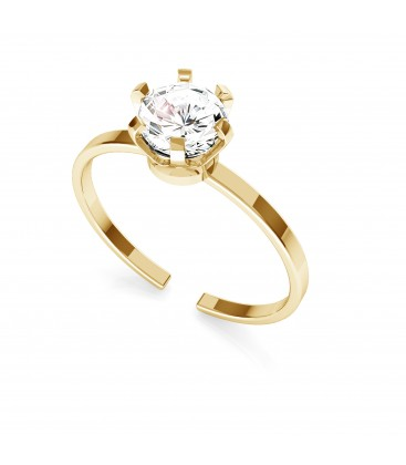 Anello in zircone 6mm, argento 925 My RING™