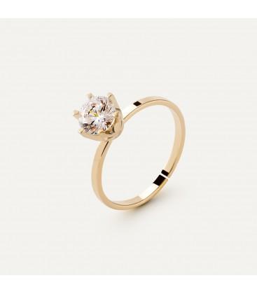 Srebrny pierścionek z cyrkonią 6mm My RING™, srebro 925