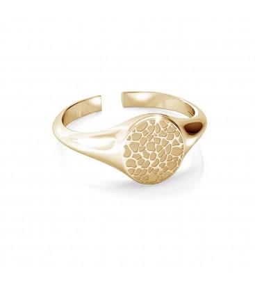 Srebrny pierścionek ze wzorkiem, MON DÉFI, srebro 925