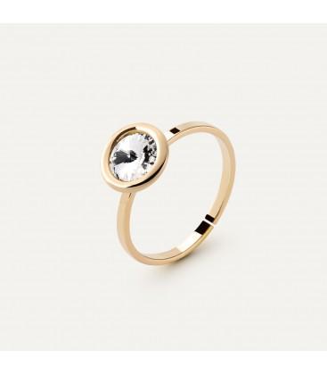 Srebrny pierścionek z kryształem Rivoli My RING™, srebro 925