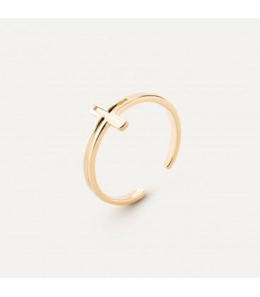 Kreuz ring, silber 925